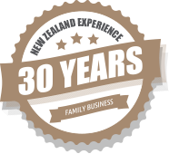 30 years New Zealand experience - family business